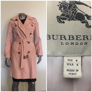 BURBERRY Rare ultra soft Leather pink coat
